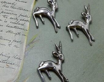 3 Sterling Silver Gazelle / Antelope Brooch / Pins    NBF14