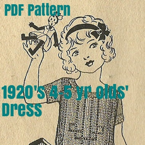 1920's 4-5 year old Knitted Dress Pattern