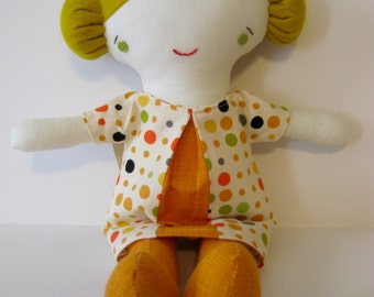 Wee Wonderfuls Sweet Cloth Girl Doll Daisy with Removable Dress