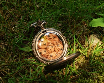 Labyrinth inspired Goblin King's Pocket Watch, steampunk costumia, Hand sculpted, Copper