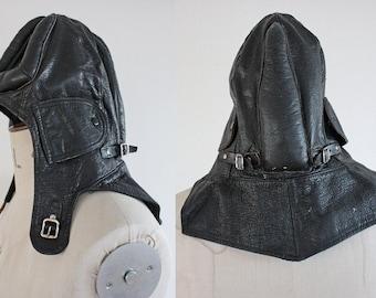 Original Vintage WW2 Swedish Military Padded Leather Tank Helmet Size 58
