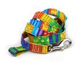 Colorful Dog Leash - Happy Go Lucky Stripe - 5 Feet Long