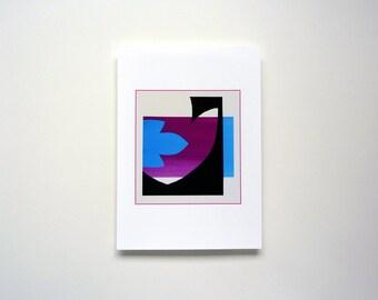 contemporary art print, minimal art, minimal wall art, Modern wall decor, leaf collage