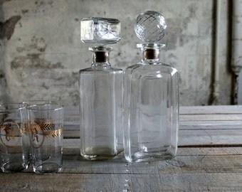 2 Vintage Glass Decanters