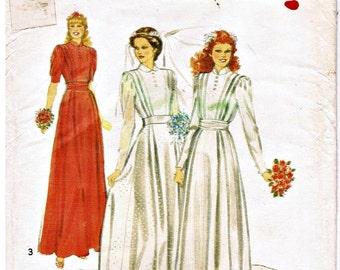 Vintage Wedding and Bridesmaid's Dress Pattern circa 1981