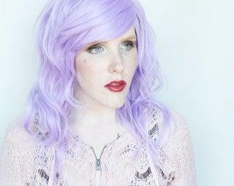 SALE Purple wig | Long Purple wig, Pastel wig, Pastel purple wig, Scene wig | Scene hair, wavy wig | Sugar Violet