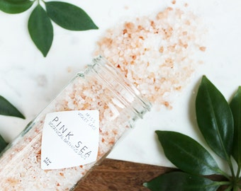 Bath Salts | Natural Bath Salts | Vegan Bath Salts | Dead Sea and Pink Himalayan Bathing Salts with Citrus | Spa & Relaxation | Pink Sea
