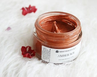Amber Sol Shimmer Whip | Bronze Whipped Shimmer Cream | 100% natural and vegan