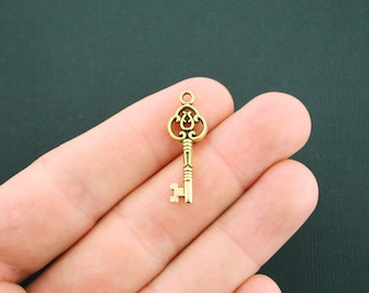 10 Key Charms Antique Gold Tone - GC806