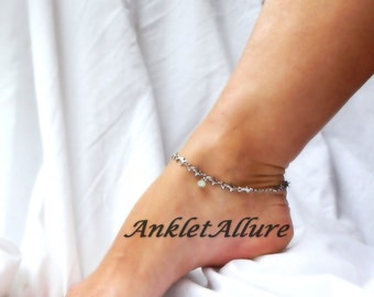 Cruise Vacation Anklet I Heart Dolphin Anklet Stainless Steel Heart Anklet Silver Ankle Bracelet Beach Anklet