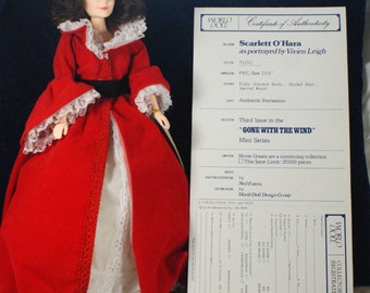 Gone with the Wind Portrait doll Scarlet in a red dress