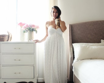 Wedding Dress Long Strapless Wedding Gown Bohemian In Lace With Chiffon Custom sizing