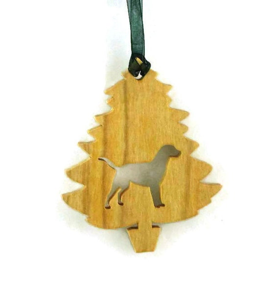 Labrador Retriever Christmas Tree Ornament Handmade From Poplar Wood Black Lab, Yellow Lab, Golden Lab, Chocolate Lab