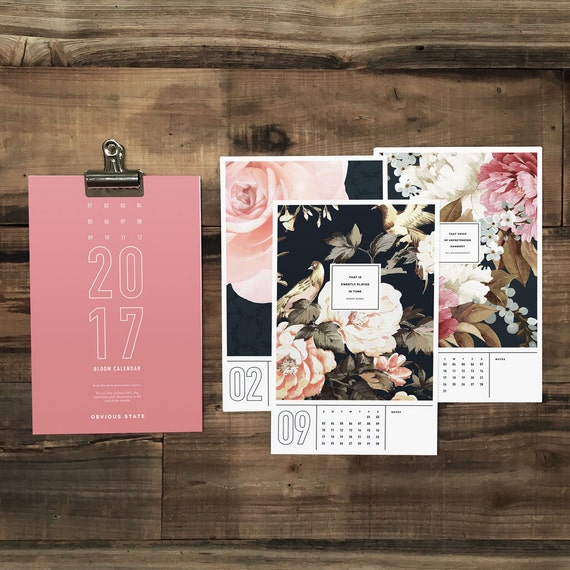 Literary Wall Calendar | Bibliophile Gift Guide