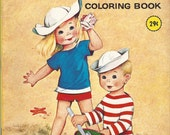 At the Seashore Vintage Coloring Book, C1969
