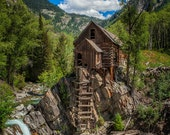 Crystal Mill Landscape Photography Nature Photography Colorado Photography Clouds Colorado home decor Fine Art Photography Print