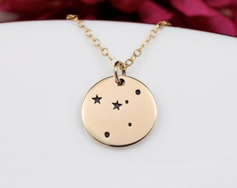 Gold Cancer Constellation Necklace, Cancer Star Sign Necklace, Cancer Zodiac Necklace, Cancer Zodiac Sign, Gift for Cancer Sign