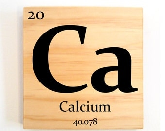 Periodic table of elements, ONE custom wooden elements tiles pick any 1 elements