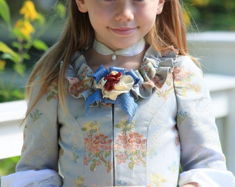 Colonial Girl's Costume - Size 8 - READY TO SHIP - 3-pc. Ensemble - Williamsburg