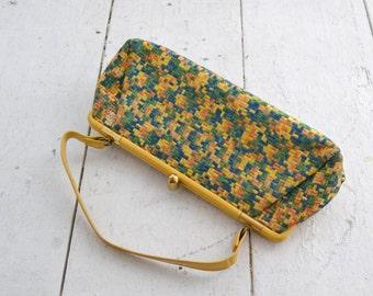 1950s Alan Multi-Colored Embroidered Handbag
