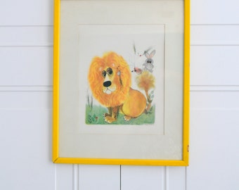 1960s George Buckett Lion and Animals Framed Print