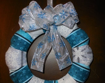 Winter Mini Fabric Wreath