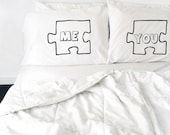 Wedding Gift couples pillow cases Puzzle Piece Pillow Case For Couples, Love Pillowcases, You and Me, Pillows His and Hers Pillow Cases