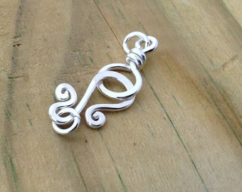 Sterling Silver clasps, sterling silver findings, 18 gauge sturdy silver hook clasp, bracelet clasps, necklace clasp, jewelry making supply
