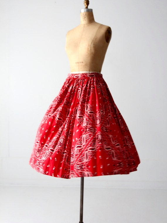 Bandana Print Skirt 97