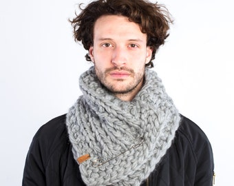 The Frileux (in L. Grey) /// oversize kitted scarf, cowl