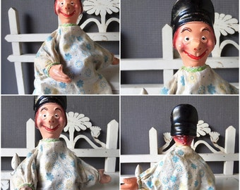 Authentic French  GUIGNOL Hand Puppet Lyon 1920s