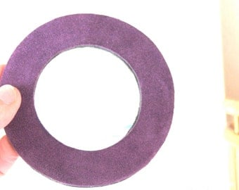 double suede bangle- purple and brown