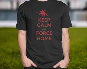 Ultimate Frisbee t shirt, Keep Calm and Force Home Ultimate Frisbee Men's t-shirt, Ultimate Frisbee apparel, Ultimate Frisbee Merchandise