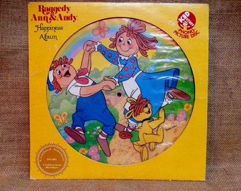 Limited Edition Collector Series...RAGGEDY ANN & ANDy - Happiness Album - 1981 Vintage Vinyl  Record Album...Picture Disc