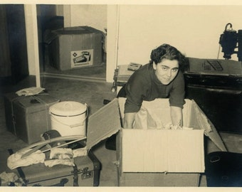 "Vintage Photo ""New Apartment"" Snapshot Photo Old Antique Photo Black & White Photograph Found Photo Paper Ephemera Vernacular - 200"