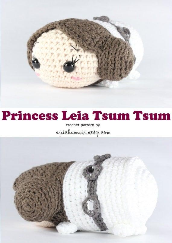 Amigurumi Tsum Tsum Free Pattern : PATTERN: Princess Leia Tsum Tsum Crochet Amigurumi Doll