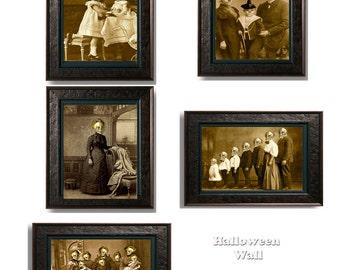 Halloween printable gothic family portraits 5 victorian zombie, skeletons Halloween wall decor Printable 8x11
