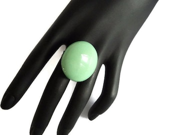 Statement Ring, Mint ring, Big ring, green ring, big green ring, mint green ring, chalcedony green, ring, statement, unusual ring,