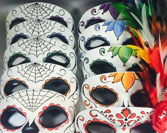 Couple Masks Matching Day of the Dead Masquerade Masks