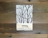 Tea Towel, Linen Dish Towel, Branches Design, Screen Printed Kitchen Towel
