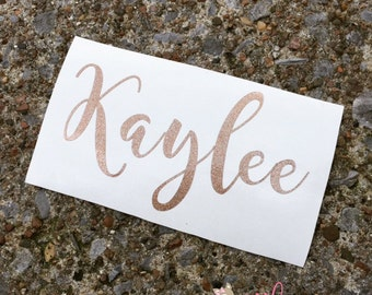 Vinyl Name Decal- Name Sticker- Monogram Sticker- DIY Monogram