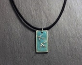 Spring Sale 10% Two Swallows Pendant - glow in the dark - Luminance series