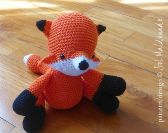 Fox Amigurumi Crochet Pattern PDF - softie amigurumi Toy foxes crochet pattern - Instant DOWNLOAD