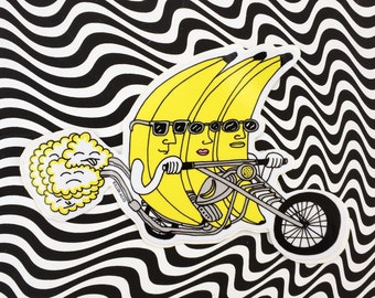 Banana Riders Sticker