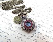 Petite Zodiac Pocket Watch Necklace -  by Split Personality Designs