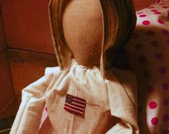 Grungy Americana Prairie Doll - Faithy