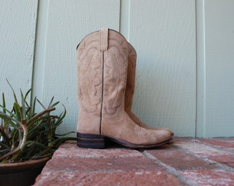 Vtg Womens 8 Rios Texas Tall Pull On Boots Boot Country Western Southwestern Boho Cowboy Cowgirl Festival Kid Spring Fashion Suede Leather