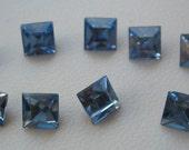 Vintage Swarovski Light Sapphire Blue Square Rhinestones 6mm QTY - 8