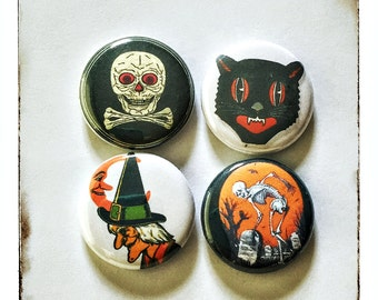"Halloween Creepies 1"" Button Choose Your Own"