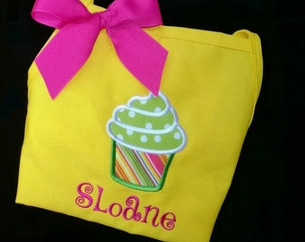Personalized Child CupCake Apron Birthday Party
